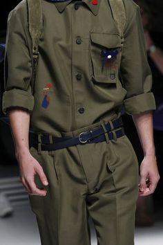 Salvatore Ferragamo Spring 2017 Menswear Fashion Show Details Supernatural Style Camo Fashion, Fashion Week, Fashion 2017, Fashion Show, Mens Fashion, Fashion Trends, Salvatore Ferragamo, Latest Haircuts, Gentlemans Club