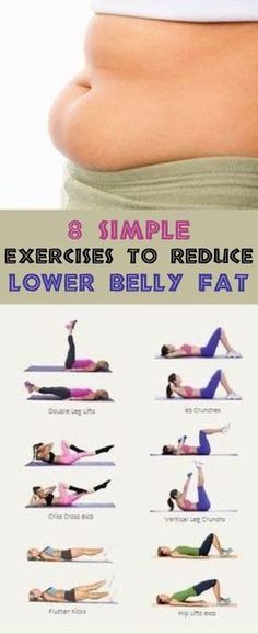 8 simple exercises to reduce lower belly fat While finding an activity that you enjoy and do on a regular basis such as walking running or biking is great its also recommended to target the specific area of the belly to tone the muscles a #SimpleExcercises