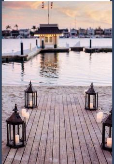 candles on the dock