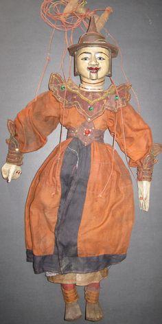 Old Burmese Puppet Character Zawgyi Magician Alchemist