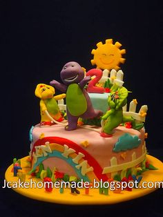 Barney and friends birthday cake | by Jcakehomemade