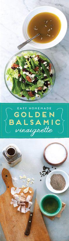DeLallo.com Salads and Dressings | Insalate Recipes: Golden Balsamic Vinaigrette - SaladSavors™ Inspiration