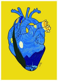 Quadro Noite Estrelada, Van Gogh