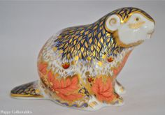 Exclusive Royal Crown Derby Paperweight Riverbank Beaver Signed Ltd Edn | eBay