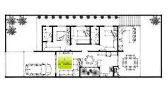 Planta baixa de casa pequena por Cia de Arquitetura