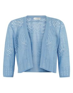 Leona linen pointelle shrug | Blue | Monsoon