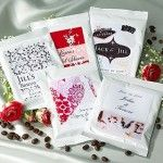 $1.59 for Personalized Wedding White Coffee Pillow Packs