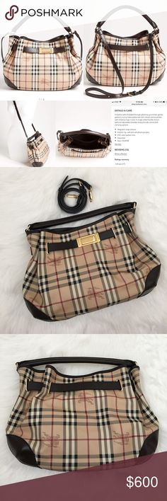 Spotted while shopping on Poshmark: NEW Burberry Haymarket Check Hobo! #poshmark #fashion #shopping #style #Burberry #Handbags