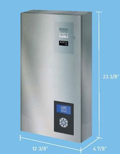 http://www.prefabhomeparts.com/hotwaterheaterchoices.php has info on a few types of water heaters that can be utilized in any prefab home.