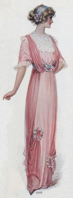 Pink dress - 1912 - Silk and chiffon - Ladies Home Journal