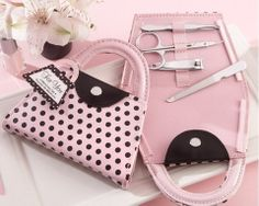 'Pink Polka Purse' Manicure Set at Elegant Gift Gallery. We're your number one source for bridal shower favors and bachelorette party favors. Manicure sets at discount prices!