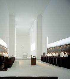 Interior of the Monastery Novy Dvur by John Pawson. How I would like to visit this space.