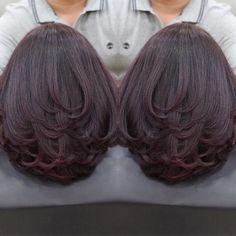 Layered Haircuts For Medium Hair, Medium Hair Cuts, Long Hair Cuts, Medium Hair Styles, Curly Hair Styles, Natural Hair Styles, Black Cherry Hair, Shot Hair Styles, Hair Essentials