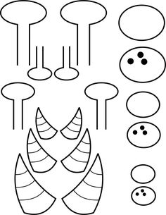 printable pieces for monster puppets ( make cardboard