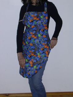 Halloween Reversible Full Apron by TheLazyChickenCoop on Etsy, $10.00