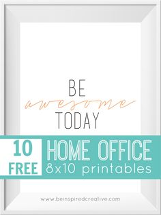 Printables typography and wall art on pinterest for 8x10 office design