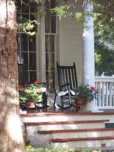 Front porch living in Marshall, Missouri