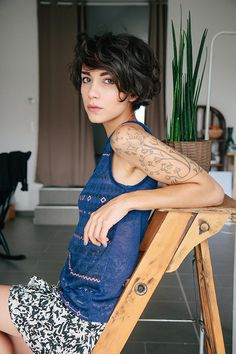 Not sure where to PIN. I love the tattoo, the hair, the fashion. Going on all 3…