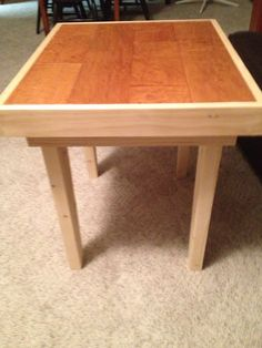 Table made from scrap flooring and scrap wood...