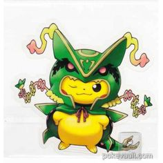 Pokemon Center 2016 Poncho Pikachu Series #2 Mega Rayquaza Large Sticker
