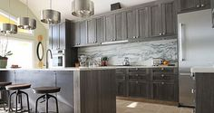 Warm dark gray kitchen cabinet idea Kitchen Cabinets: The 9 Most Popular Colors To Pick From