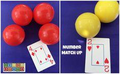 Number Match Up Heidi Songs Kindergarten Math Activities, Preschool Math, Math Classroom, Fun Math, Teaching Math, Kids Math, Classroom Resources, Classroom Ideas, Math Card Games