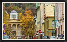 https://flic.kr/p/q5H97J | In the Valley | This is some of the beautiful area of downtown Frankfort, KY.  This is a view from the Singing Bridge looking down into the area of the old state offices that is backed by a hill.