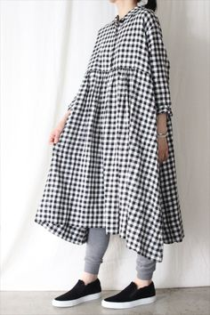 gingham check long sleeve