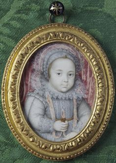 An unknown child by Isaac Oliver (1556-1617) What a cutie...