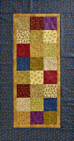 This easy project could be pieced overnight to give as a gift tomorrow.