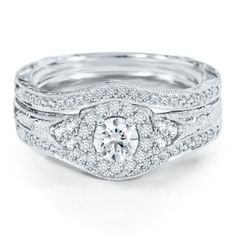 Helzberg Diamond Symphonies® 3/4 ct. tw. Diamond Engagement Ring Set in 14K Gold $2799