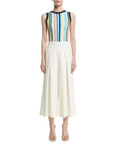 Shell+&+Culottes+by+Milly+at+Neiman+Marcus.