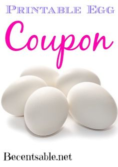 Yippee!!! We have a printable egg coupon just in time for Easter. Save $.55 off any two dozen eggs.