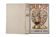 Rie Cramer: boekomslag voor Jan-Jop, 1922: https://mulerius.ub.rug.nl/ui/item.php?id=1009 @Bookcoverlove