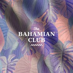 Branding and Pattern Design for The Bahamian Club, a men-only swimwear brand.