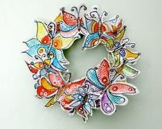 Gorgeous paper butterfly wreath