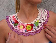 Biljana Kovale Necklace - #crochet