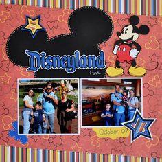 Disneyland scrapbook page idea