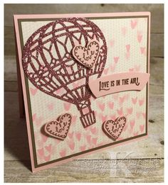 "Faithful INKspirations: Love Is in the Air is made with Stampin' Up's ""Lift Me Up"" stamp set and framelit bundle."