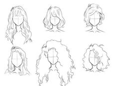 sum hair practices for today - Totally Not Punvy Cool Art Drawings, Pencil Art Drawings, Art Drawings Sketches, Drawings Of Hair, Anime Hair Drawing, Girl Hair Drawing, Cartoon Drawings, Hair Sketch, Hair Style Sketches