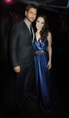 Gerard Butler with Sierra Boggess | (Now, I'm pretty sure this is real because he was at the LND Premier) I think it's nice that he was supporting Phantom!