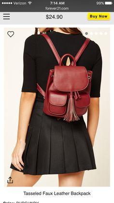 2055488deb7 Drawstring Backpack, Backpack Bags, Fringe Bags, Faux Leather Backpack,  Tassels, Polyvore