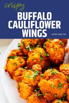 I really want to try new low carb appetizer recipes and this Keto Buffalo Cauliflower Wings Recipe looks so good! I can't wait to cook this easy side for my family.  It looks like the perfect keto .  SO PINNING! #kickingcarbs #lowcarb #keto #lchf #ketorecipes #cauliflower Yummy Chicken Recipes, Yum Yum Chicken, Real Food Recipes, Cauliflower Buffalo Wings, Cauliflower Cheese, Low Carb Appetizers, Appetizer Recipes, Wing Recipes, Low Carb Recipes