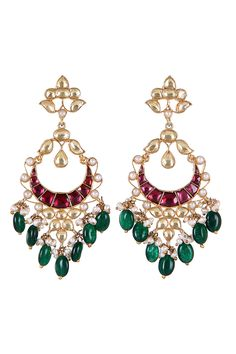 Multi Colour Chand Bali Earrings, Fashionable Earrings, Designer, Latest, Online http://www.designemporia.in/fashion-jewels-and-accessories-earrings/product-details/multi-colour-chand-bali-earrings-de14530.html