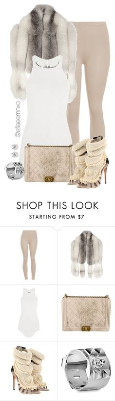 """Untitled #994"" by efiaeemnxo ❤ liked on Polyvore featuring Gucci, Rick Owens, Chanel, Giuseppe Zanotti and Hermès"