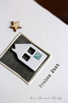 der kleine klecks Weihnachtskarte - Christmas card Material: Rahmen-Quadrat - Alexandra Renke Maisons du monde - Kesi´art Treasury - Gmund Holzsternchen - Wood Veneer - Studio Calico