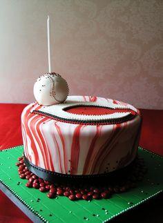 #Cincinnati #Reds Cake by @Sugar Realm