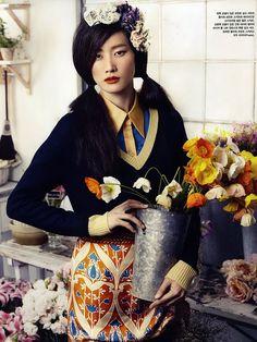 Hyun Yi Lee - Vogue Korea - March 2010