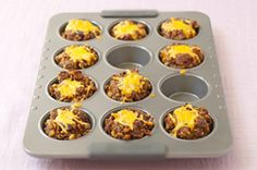Meatloaf Minis - We love the Italian style version. Add mash potatoes on top and make them cupcake style.