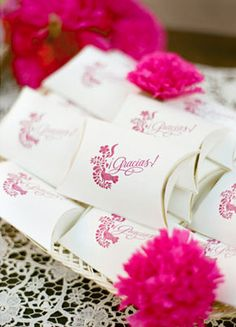 Gracias! Little gifts for wedding guests.